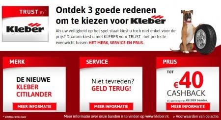 Kléber-service: Niet tevreden? Geld terug!