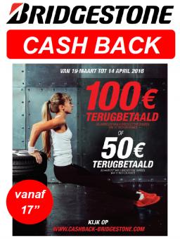 Cashback Actie Bridgestone