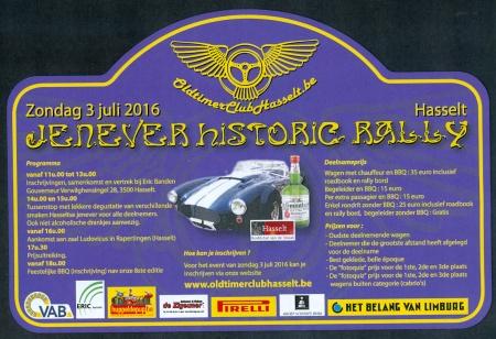Jenever Historic Rally ism ERIC Banden